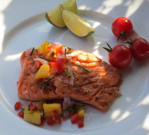Salmon salsa